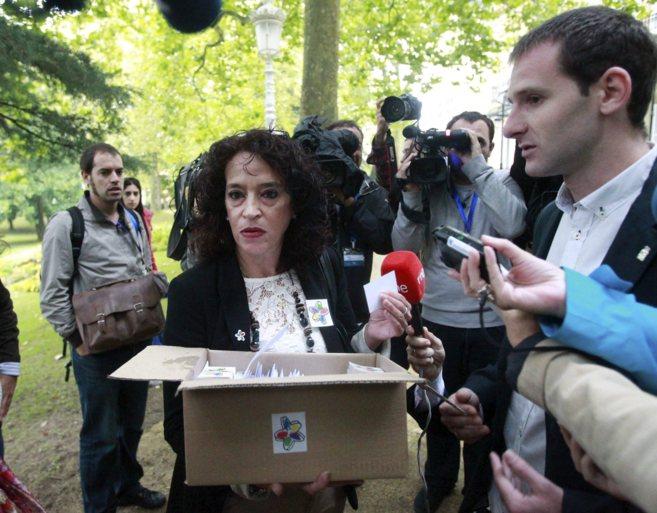 La vicepresidenta del Colectivo de Víctimas del Terrorismo (Covite),...