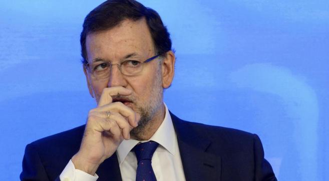 El presidente del Gobierno, Mariano Rajoy, durante Reunión del...