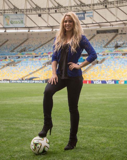 Shakira, el pasado mes de julio, en el Mundial de Brasil.