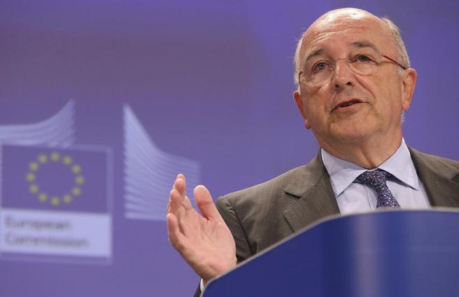 El vicepresidente de la Comisión Europea y comisario de Competencia,...