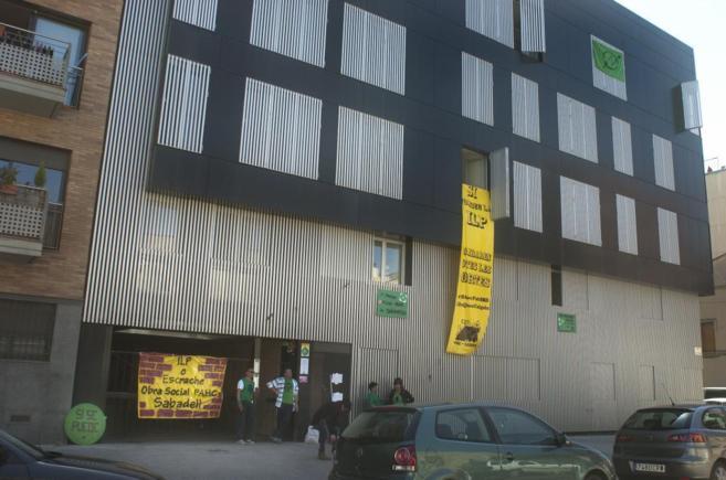 El piso cedido por la Sareb, en la calle Sant Ferran de Sabadell,...
