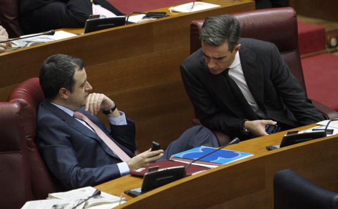 David Serra y Ricardo Costa, en las Cortes, en una imagen de archivo.