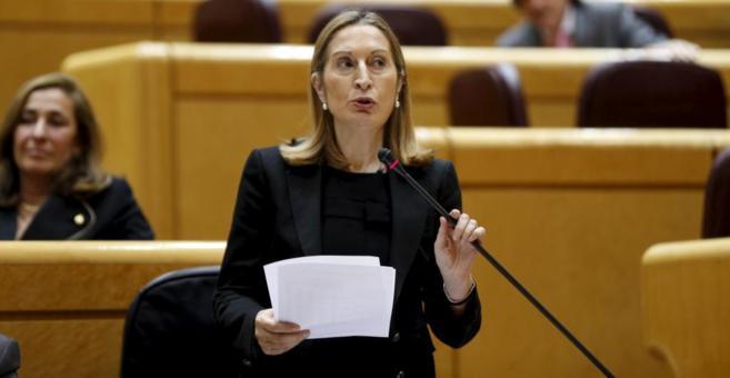 Imagen de archivo de la ministra de Fomento, Ana Pastor, en el Senado.