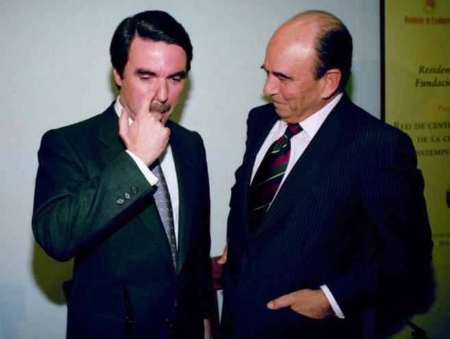 José María Aznar con Emilio Botín.