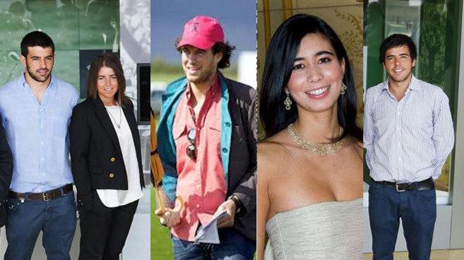 De izquierda a derecha, Miguel y Carmen Ballesteros, Felipe Morenés,...