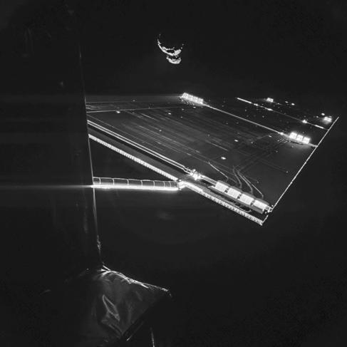 El 'selfie' de la sonda Rosetta, junto al cometa...