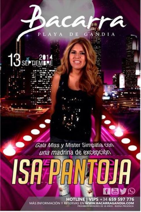 Este sábado Isa ofrecerá su segundo 'bolo' promocional