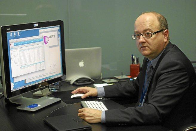 Miguel Ángel Juan, socio director de S2 Grupo, en las oficinas de la...