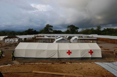 Imagen del hospital de Cruz Roja en Sierra Leona.