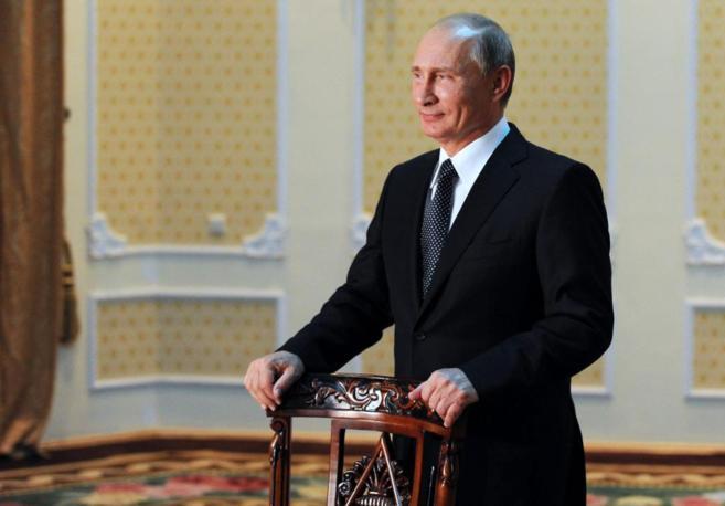 El presidente ruso, Vladímir Putin, en una rueda de prensa en...
