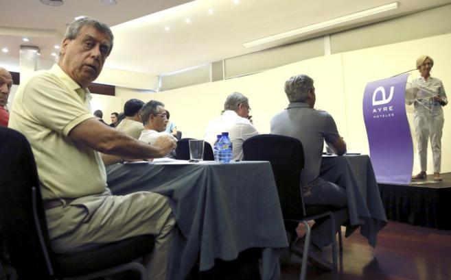 El catedrático Francisco Sosa Wagner, durante el Consejo Político de...