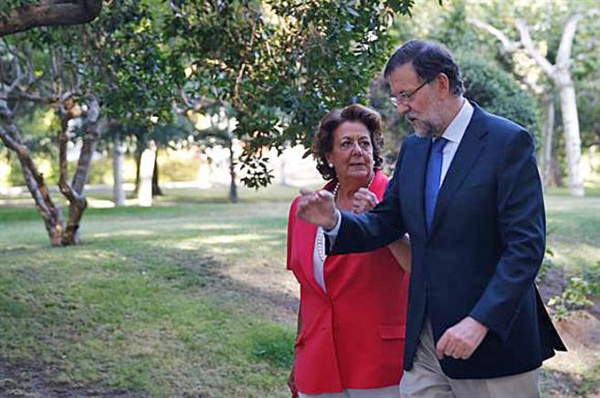 Rita Barberá y Mariano Rajoy durante su encuentro del viernes en...