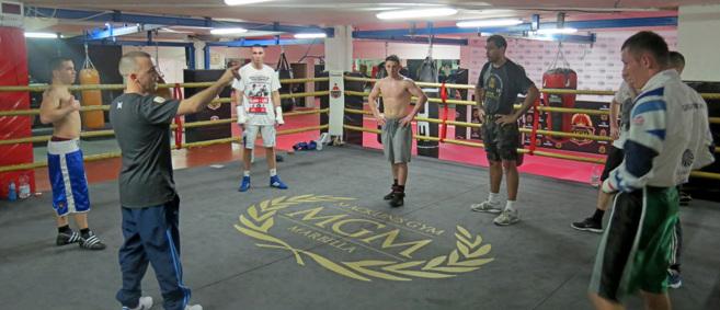 Boxeadores del MGM, al que también acuden líderes de la mafia...