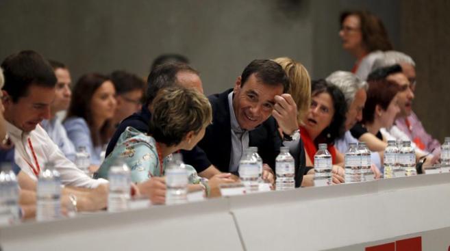 El secretario general del PSM, Tomás Gómez, en el Comité Regional...