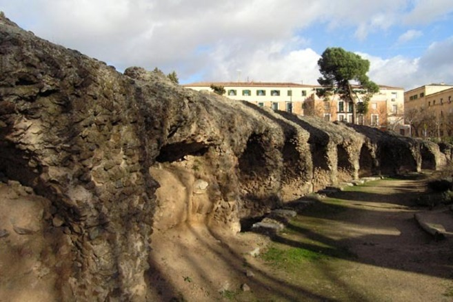 Una de las partes del Circo Romano de Toledo.