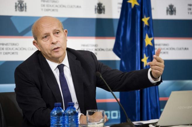 José Ignacio Wert, en la presentación del informe sobre el curso...