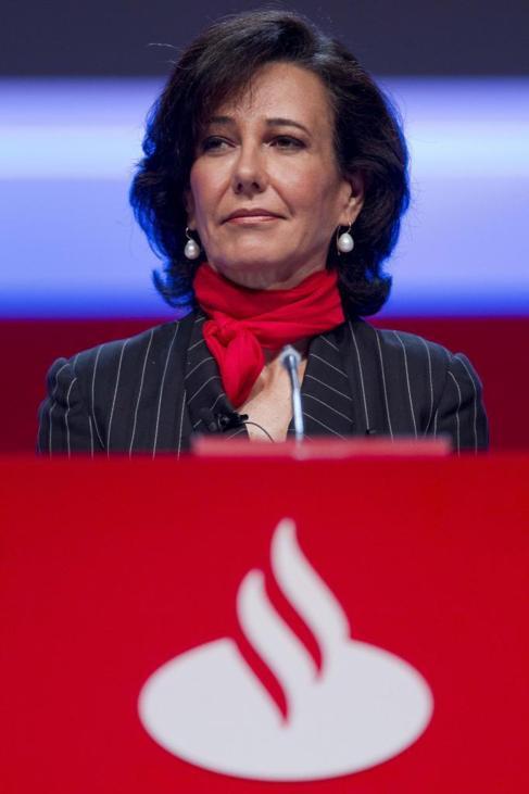 Ana Patricia Botín, en su primera junta de accionistas como...