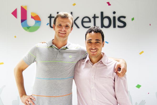 Ander Michelena y Jon Uriarte en las oficinas de Ticketbis.