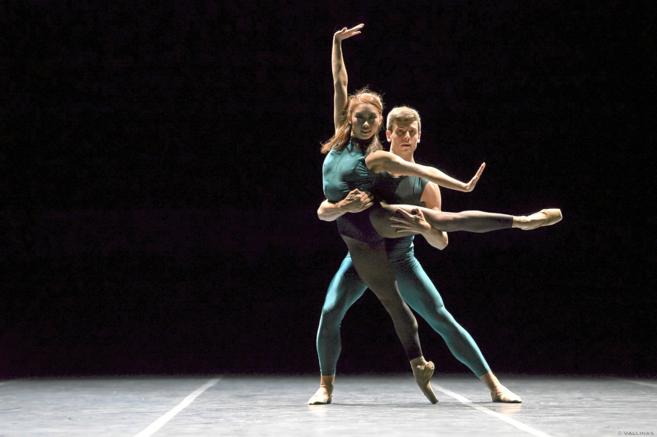 Dos bailarines de la Compañía Nacional de Danza.