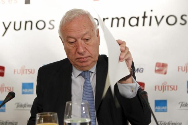 José Manuel García-Margallo, durante su intervención en el Fórum...