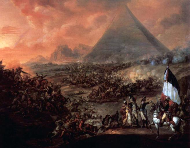 La batalla de las Pirámides, 21 de julio de 1798, en las que se...