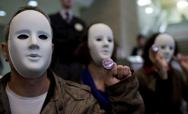 Protesta de la plataforma 'Yo sí, sanidad universal' por la...