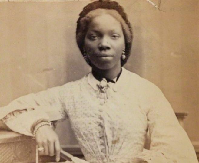 Sarah Forbes Bonetta,  en una fotografía de 1862