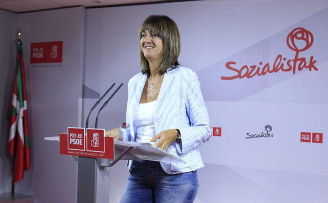 Idoia Mendia, ayer tras conocer el resultado de las votaciones.