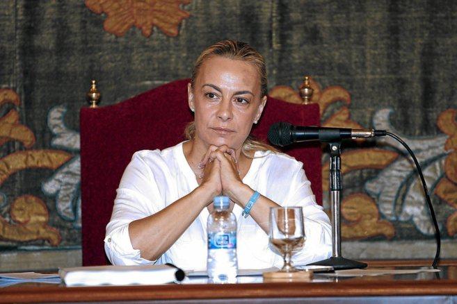 La alcaldesa de Alicante, Sonia Castedo, durante un pleno municipal.