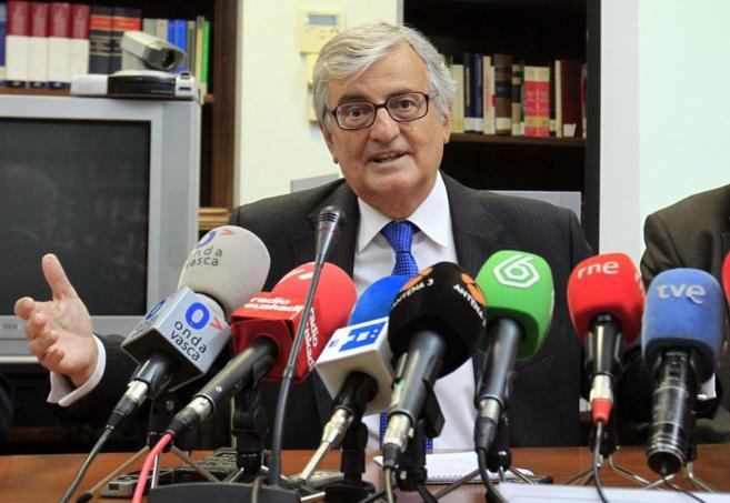 Eduardo Torres-Dulce, durante una rueda de prensa posterior al Consejo...