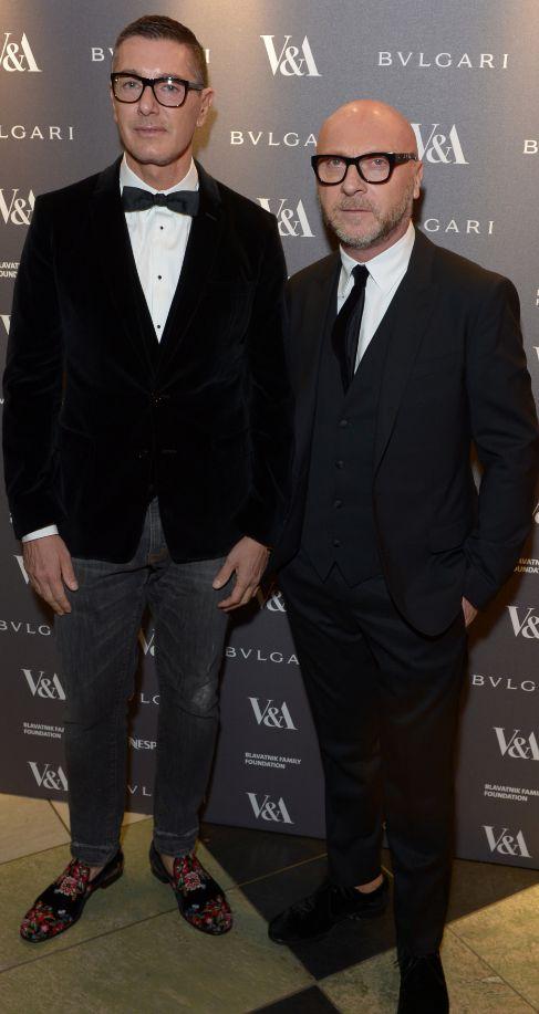 Stefano Gabbana (i) y  Domenico Dolce (d).