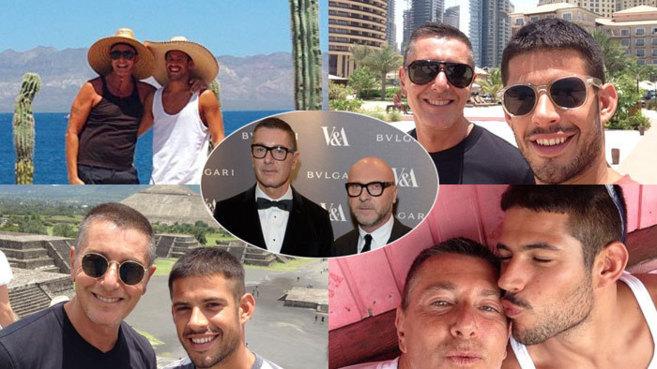 Gabbana (a la izquierda en todas las fotos) ha disfrutado del verano...
