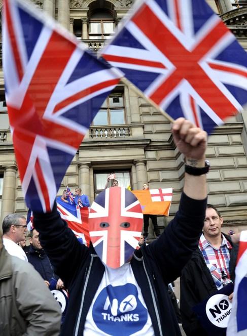 Partidarios de la independencia defienden el 'sí' en...