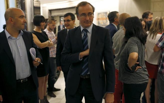 Alfonso Alonso, portavoz del PP en el Congreso de los Diputados.