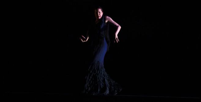 María Pagés, durante su actuación en el Teatro de la Maestranza de...