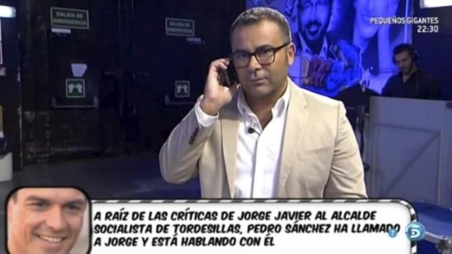 Jorge Javier Vázquez, presentador de 'Sálvame', durante su...