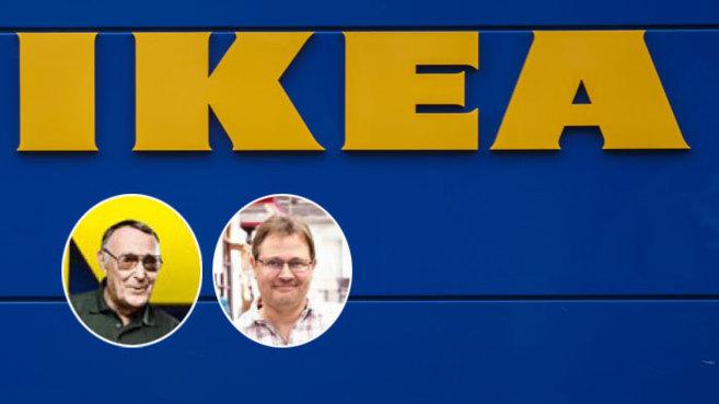 Ingvar Krampad (a la izquierda), fundador de Ikea. A la derecha, su...