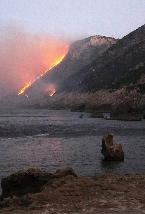 Incendio la pasada semana en el parque natural de El Montgó