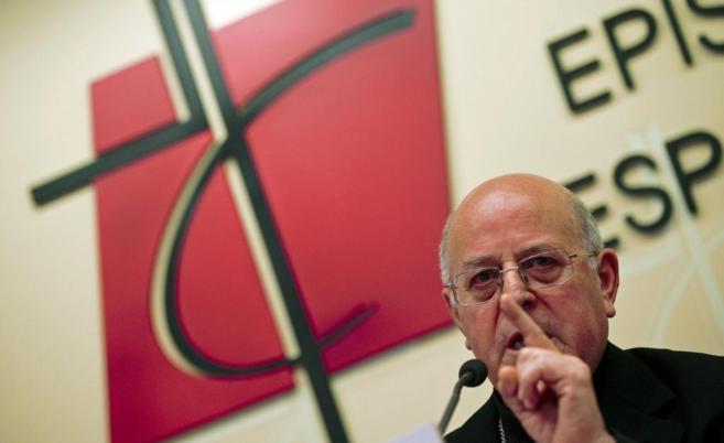 El presidente de la Conferencia Episcopal Española, Ricardo...
