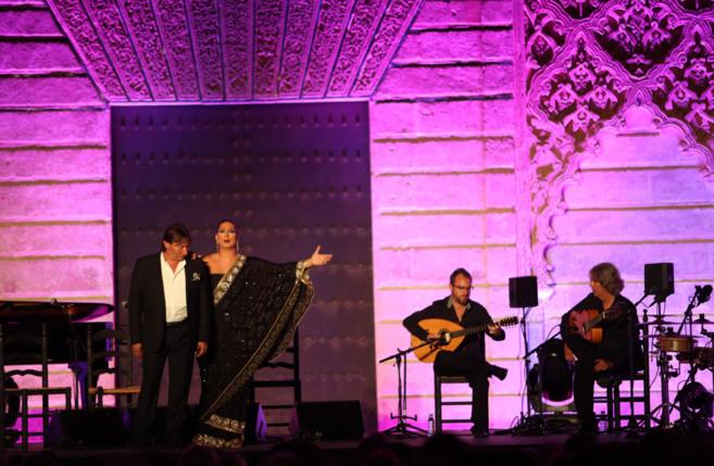 Marina Heredia, en un momento de su espectáculo 'Garnata'.