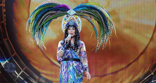 Cher, en una imagen tomada durante uno de sus conciertos.