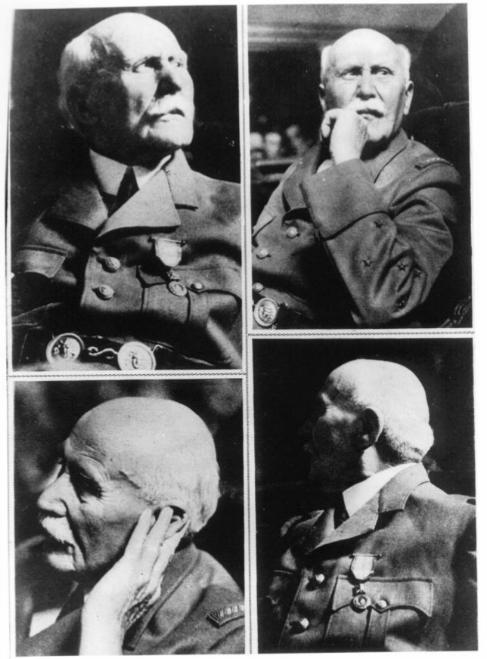 Cuatro retratos del mariscal Pétain.