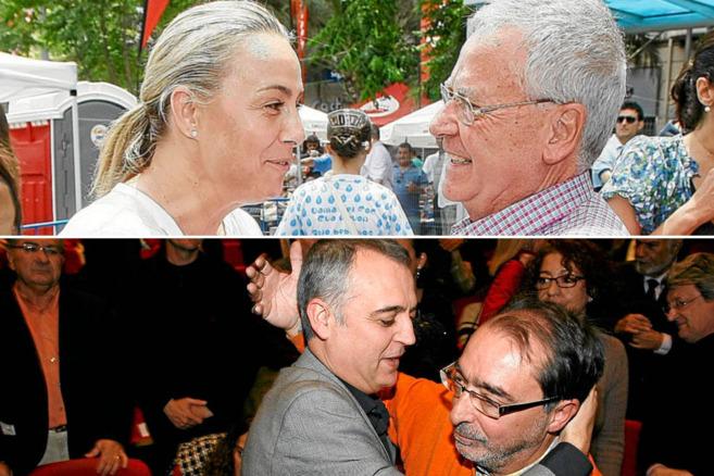 Arriba, Sonia Castedo y Luis Díaz Alperi Abajo, Roque Moreno y Ángel...
