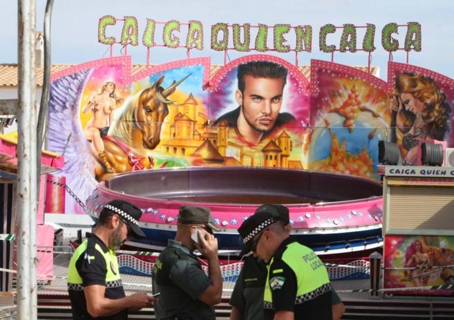 Atracción que ha sido precintada en Los Palacios tras la muerte por...