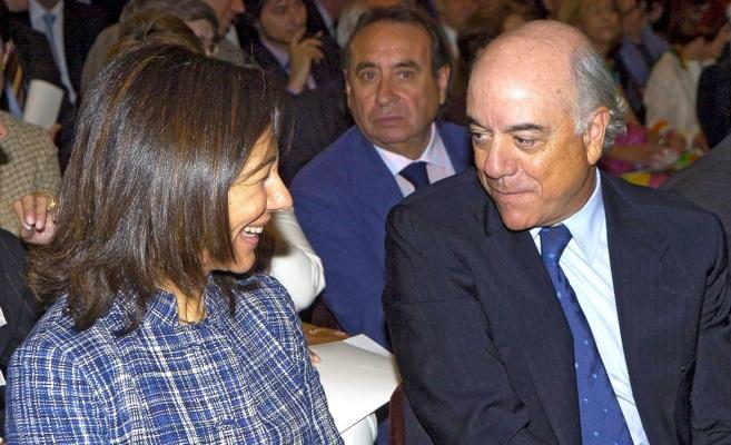 Ana Patricia Botín y Francisco González en 2007, en una de las...