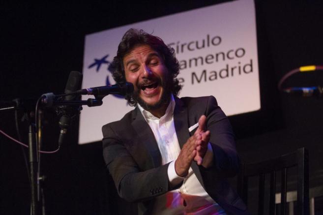 El cantaor flamenco Antonio Reyes en el Círculo Flamenco.