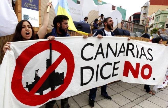 Movilizaciones contra las prospecciones en Canarias.