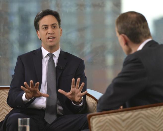 Miliband, hoy, durante la conferencia nacional laborista en...