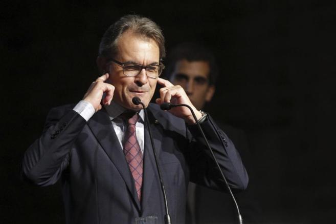 Artur Mas, durante su intervención en Cardona.