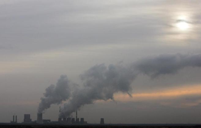 Emisiones de una planta energética.